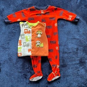 12 month Pekkle footed sleeper bundle for baby